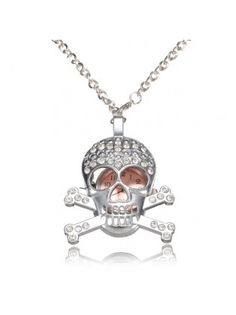 Crystal Skull Pocket Watch