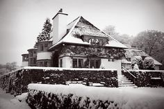 UK Voysey Broadleys winter Arts And Crafts House, Home Crafts, Windermere, Cumbria, Lake District, Residential Architecture, Image Search, England, Europe