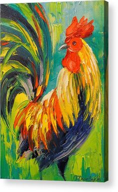 Rooster Acrylic Print by Olha Darchuk. All acrylic prints are professionally printed, packaged, and shipped within 3 - 4 business days and delivered ready-to-hang on your wall. Choose from multiple sizes and mounting options. Bird Painting Acrylic, Rooster Painting, Rooster Art, Acrylic Artwork, Oil Painting On Canvas, Watercolor Paintings, Canvas Art, Bird Paintings On Canvas, Canvas Prints