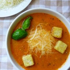 This Creamy Crockpot Tomato Soup tastes fancy, looks beautiful, and is a light lunch or dinner recipe! Plum Tomatoes, Cherry Tomatoes, Crockpot Tomato Soup, Best Crockpot Recipes, Soup And Salad, Soups And Stews, Dinner Recipes, Lunch, Meals