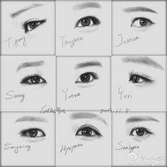 Image about girl in by ねおねお on We Heart It Kim Hyoyeon, Sooyoung, Yoona, Girls Generation Sunny, Sunny Snsd, Eye Sketch, Korean People, Jessica Jung, Art Series
