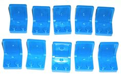 LEGO 10 BLUE MINIFIG CHAIRS Car/Truck/Vehicle Seats #LEGO