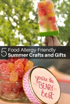 Celebrate summer with 5 easy treats and crafts! Tutorials here: http://ldig.it/1BmevEm These easy treats are gluten free, nut free, peanut free, dairy free, wheat free, soy free, top 10 food allergy free, dye free, and non-GMO! They're also vegan adaptable!