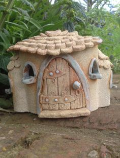 fairy house, hand made, small cottage. by HereNorTherey on Etsy https://www.etsy.com/listing/231674366/fairy-house-hand-made-small-cottage