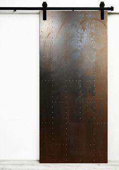Sliding Door Design, Sliding Door Systems, Sliding Doors, Industrial Interior Doors, Industrial Metal, Industrial Architecture, Industrial Style, Door Fittings, Steel Panels