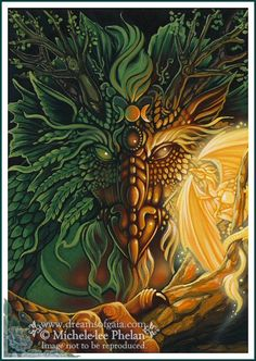 ✯ The Messenger Oracle Share Your Thoughts Card 39 :: Artist Ravynne Michele Phelan ✯