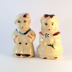 'Shawnee Vintage Salt & Pepper Shakers - Bo Peep & Sailor Boy' is going up for auction at  4pm Tue, Jun 19 with a starting bid of $20.