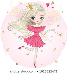 Cartera de fotos e imágenes de stock de Oksana Lysak | Shutterstock Cartoon Drawings, Cute Drawings, Little Girl Drawing, Cute Fairy, Fairy Princesses, Instagram Highlight Icons, Fairy Art, Tooth Fairy, Portfolio