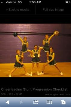 Hope we can do this stunt for j. cheer it looks cool an easy! Hope we can do this stunt for j. cheer it looks cool an easy! Cheerleading Moves, Easy Cheer Stunts, Cheer Moves, Cheer Routines, Cheer Workouts, Gymnastics, Cheer Stretches, Cheerleading Cheers, Cheer Formations