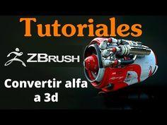 Zbrush Como Convertir Alfas en Objetos 3D - YouTube