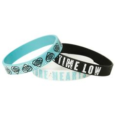 All Time Low Future Hearts Rubber Bracelet 3 Pack   Hot Topic ($8.50) ❤ liked on Polyvore