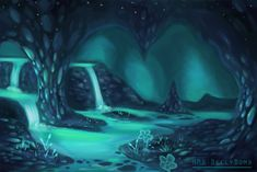 Image result for The waterfall Undertale