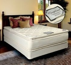 exceptional white pillowtop double sided soft twin mattress and box