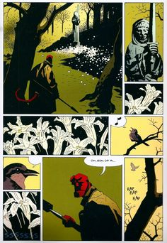Over on Comic Book Resources, Matt Seneca (aka Robot 6), analyzes this 'Hellboy' page from 'Dark Horse Presents.' I agree with him; it's picture-perfect storytelling. Mignola's montage creates a palpable atmosphere as the tension builds in the story.