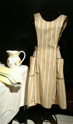 Vintage apron, napkins, FTD water pitcher soon to be listed in the Etsy store