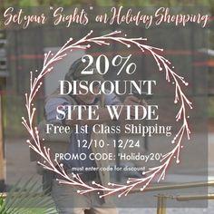 "Set Your ""Sights"" on Holiday Shopping . Holiday, Shopping, Vacation, Holidays"