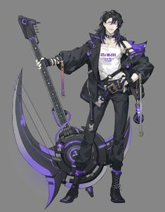New concept art characters guys anime boys Ideas Character Design Challenge, Fantasy Character Design, Character Design References, Character Design Inspiration, Character Concept, Character Art, Character Costumes, Anime Weapons, Fantasy Weapons