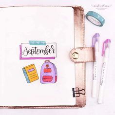 Join me as I set up September in my Blogging Bullet Journal. The theme is stationery/back to school. Cover page, monthly log, and more monthly pages. Plus watch a Plan With Me video. #mashaplans #bujo #bulletjournal #planwithme #bujosetup #stationerybujo Bullet Journal Flip Through, Bullet Journal Cover Page, Bullet Journal Themes, Journal Covers, Bullet Journal Inspiration, Work Journal, School Stationery, My Themes, School Themes