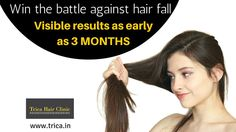 Fight against #HairFall with Trica Hair Clinic and get visible results in 3 months!!! For more details contact us http://www.trica.in/hair-treatments-in-mumbai.html