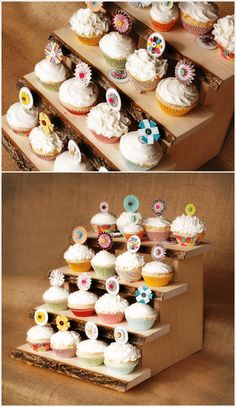 DIY cupcake stands #diy #crafts