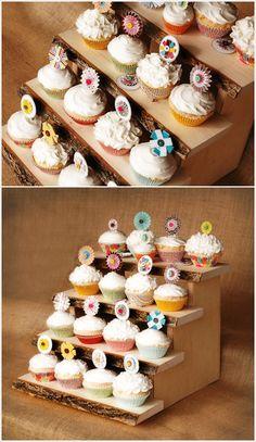 DIY cupcake stands #diy #crafts