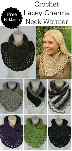 Crochet Lacey Charma Neck Warmer This charming Charma neck warmer pattern is inspired my mother Charma. She doesn't care for the bulkiness of a [. I hope you have enjoyed this beautiful crochet, the free pattern is HERE so you can make a beautiful Bonnet Crochet, Gilet Crochet, Crochet Scarves, Crochet Shawl, Crochet Clothes, Easy Crochet, Knit Crochet, Knitting Scarves, Crochet Stitches