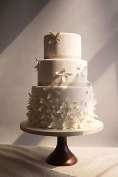 #Wedding Cake Ideas - Charm City Cakes this is a really pretty, simple elegant cake