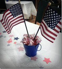 patriotic centerpiece | American Flag Centerpiece for Church Fellowship Lunch