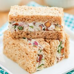 Turkey Tarragon Tea Sandwiches.