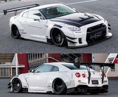 Liberty Walk lb works complete wide body kit type 2 with hood (carbon fiber) for Nissan GTR Exotic Sports Cars, Cool Sports Cars, Super Sport Cars, Exotic Cars, Super Cars, Nissan Gtr R35, Expensive Sports Cars, Wide Body Kits, Liberty Walk