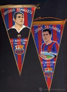166. Banners honoring  ANTONIO RAMALLETS and JUAN SEGARRA - C.F. BARCELONA