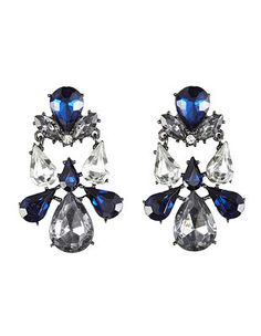 Marquise Cut Faceted Stone Drop Earrings: Charlotte Russe