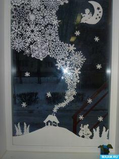 Christmas Window Display Home, Winter Window Display, Christmas Window Decorations, Office Christmas, Christmas Art, Winter Christmas, Christmas Wreaths, Holiday Decor, Window Art