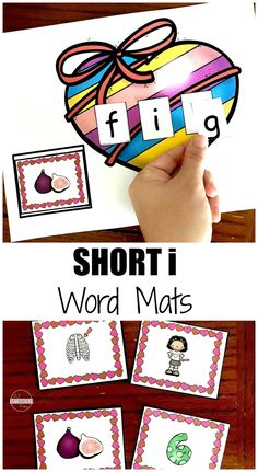 FREE Short I Word Mats - this is such a fun activities for practicing CVC words, vowel activities, and kids practicing letters. This is way more fun than worksheets - it is simple to get ready and perfect for extra practice or literacy center