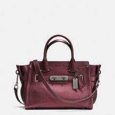 Coach Swagger 27 ($450) ❤ liked on Polyvore featuring bags, handbags, shoulder bags, red, red leather shoulder bag, coach purses, coach crossbody, crossbody cell phone purse and leather purse