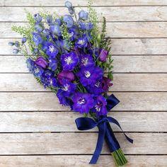 Dark delphinium bouquet.
