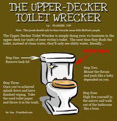 The Upper-Decker Toilet Wrecker Prank!