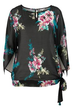 Miss Etam - Top bloem zwart