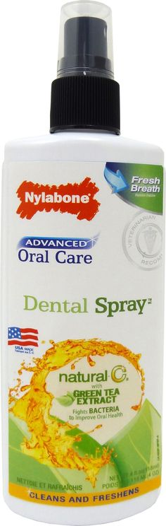 Nylabone Corp (bones)-Advanced Oral Care Natural Dental Spray 4 Ounce