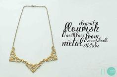 DIY: Elegant Flourish Necklace - Make it three ways! @ mintedstrawberry.blogspot.com
