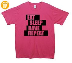 Eat Sleep Rave Repeat T-shirt - Rosa - XX-Large (127cm-132cm) (*Partner-Link)