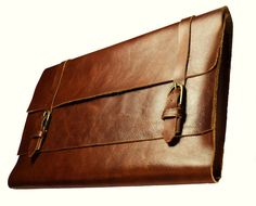 Brown genuine leather MacBook Pro case - 15 inch, $135