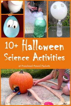 We need to try this science projects! This science experiment is perfect for preschool, kindergarten elementary science, and even older kids! Halloween Theme Preschool, Fall Preschool Activities, Halloween Science, Halloween Activities For Kids, Halloween Kids, Halloween Themes, Nursery Activities, Halloween Designs, Preschool Science