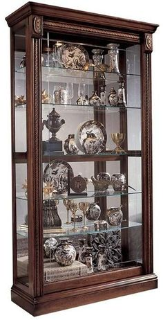 Darby Home Co Nancy Lighted Curio Cabinet Rustic Living Room Furniture, Home Decor Furniture, Furniture Design, Furniture Ideas, Curio Cabinet Decor, Curio Cabinets, Cupboard Design, Inexpensive Furniture, Showcase Design
