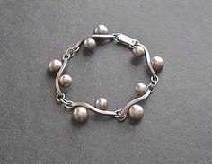 Vintage Sterling Japan Toyo Koki Modernist Bracelet