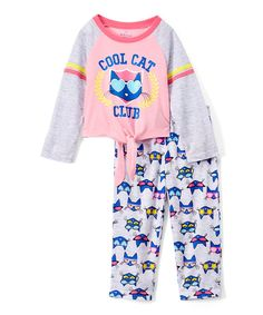 Take a look at this Pete the Cat 'Cool Cat' Two-Piece Pajama Set - Toddler & Girls today!