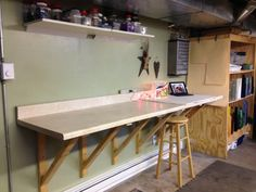 """~The """"Glass Dungeon"""" ~ Just added an 8 foot counter top - because you never has enough space when doing glass projects!"""