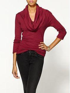 New work clothing ideas michael stars 1x1 slub cowl neck long sleeve