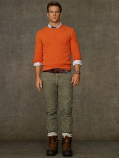 Cabled Cashmere Crewneck. Win Ralph Lauren discount Gift Cards on http://www.cityhits.com and use them towards cashmere crewnecks like this one. #mens #fashion #fall2013