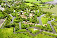 Vauban fort in Netherlands.